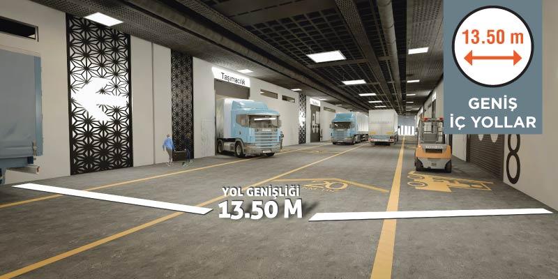 Geniş İç Yollarla Trafiksiz, Kesintisiz Üretimin Merkezi!